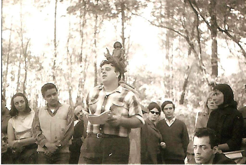Alex Rode reads at the International Gathering of Poets in Mexico City (1964)