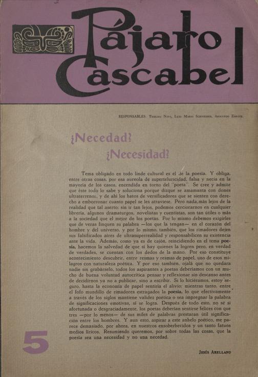 Pájaro Cascabel 5 [Cover]