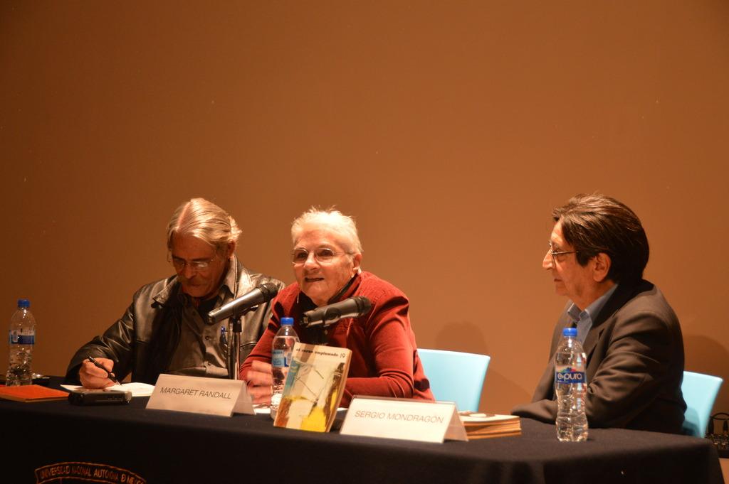 FelipeEhrenberg,MargaretRandall,andSergioMondragón (Mexico City, 2015)