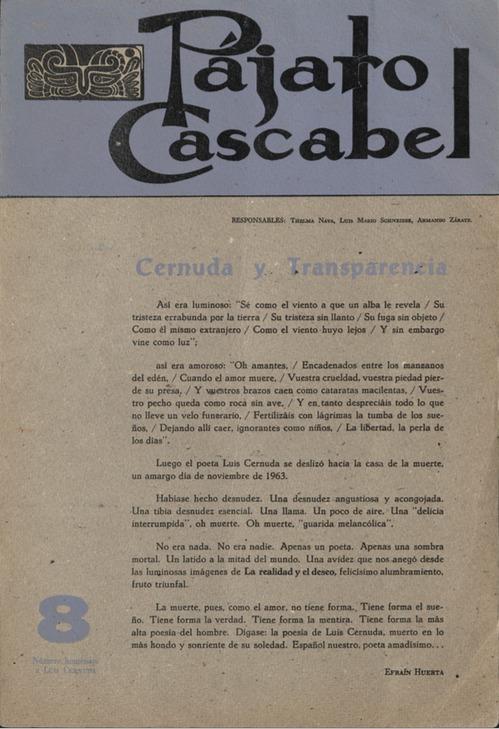 Pájaro Cascabel 8 [Cover]